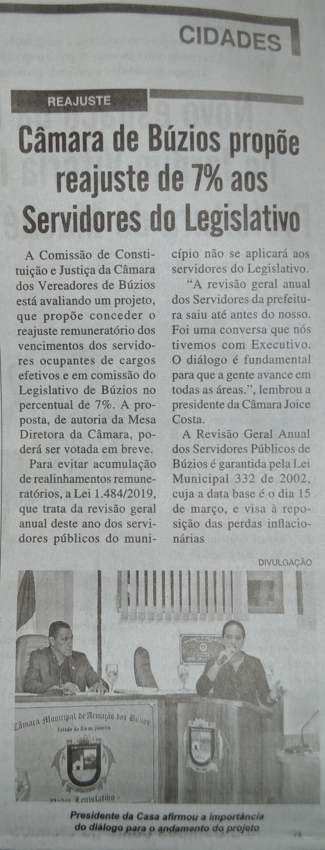 Diário Costa do Sol_Reajuste Servidores do Legislativo_03maio19