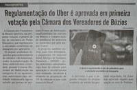 Diário Costa do Sol_Regulamentação Uber_1 turno_11 a 13 maio19