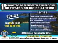 ABRACAM REALIZA 1º ENCONTRO DE CÂMARAS MUNICIPAIS DO ESTADO DO RIO DE JANEIRO