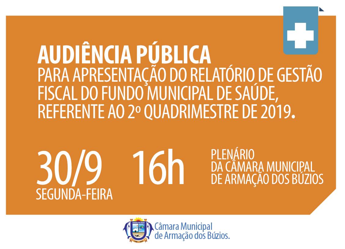 Audiência de Prestação de Contas - Fundo Municipal de Saúde