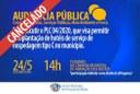 Audiência Pública Cancelada