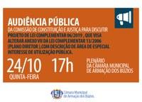 Audiência Pública Discutirá PLC 06/2019