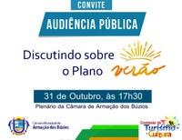 Audiência Pública Vai Tratar do Plano Verão