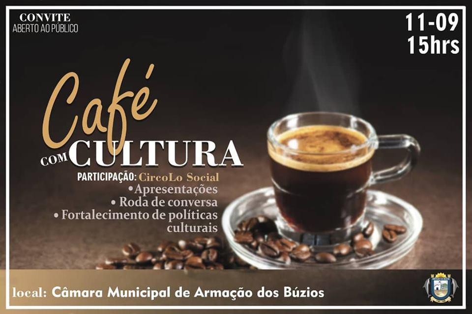 Café com Cultura, nesta quarta-feira (11), às 15h no plenário da Câmara Municipal
