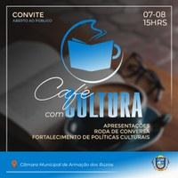 Café com Cultura, quarta-feira (07), às 15h no plenário