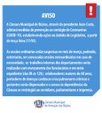 Legislativo adota Medidas Para Prevenção do Coronavírus