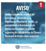 Câmara de Búzios suspende Sessões Ordinárias em Março